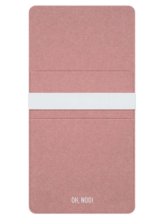 Чехол из фетра для iPad и планшетов, дымчато-розовый, вертикальный с крышкой