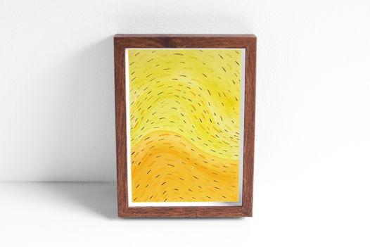 """Акварельный рисунок """"Оранжево-желтый поток №1"""""""