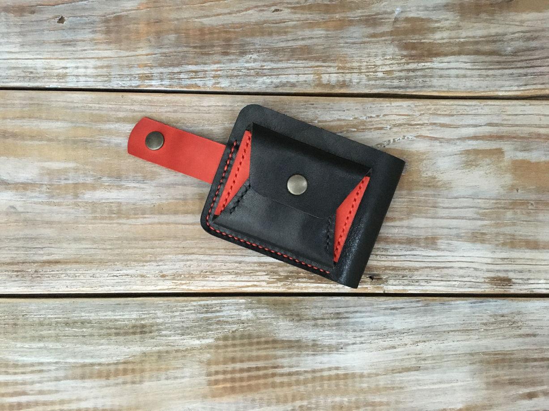 Кожаный кошелек бифолд