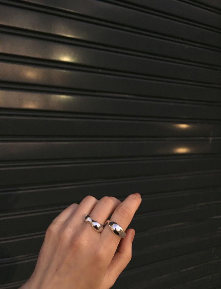 кольцо дутое ассиметричное