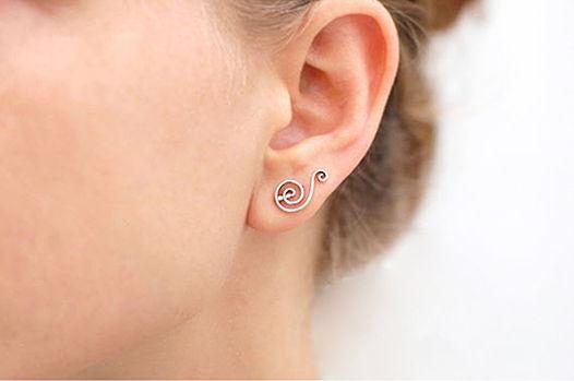 Серьги вдоль мочки уха «Страдивари 1»