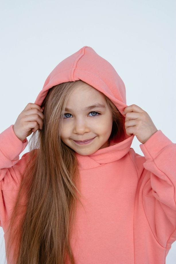 Детский костюм ОВЕРСАЙЗ. Футер 3х нитка петля. Цвет лосось