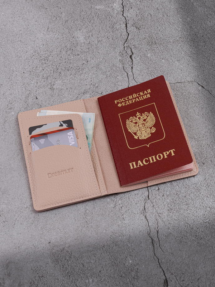 """Обложка для паспорта """"Verona"""" Гермес Бежевый"""