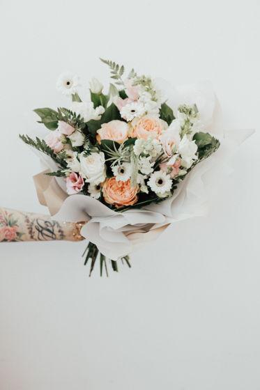 Сборный букет из живых цветов L