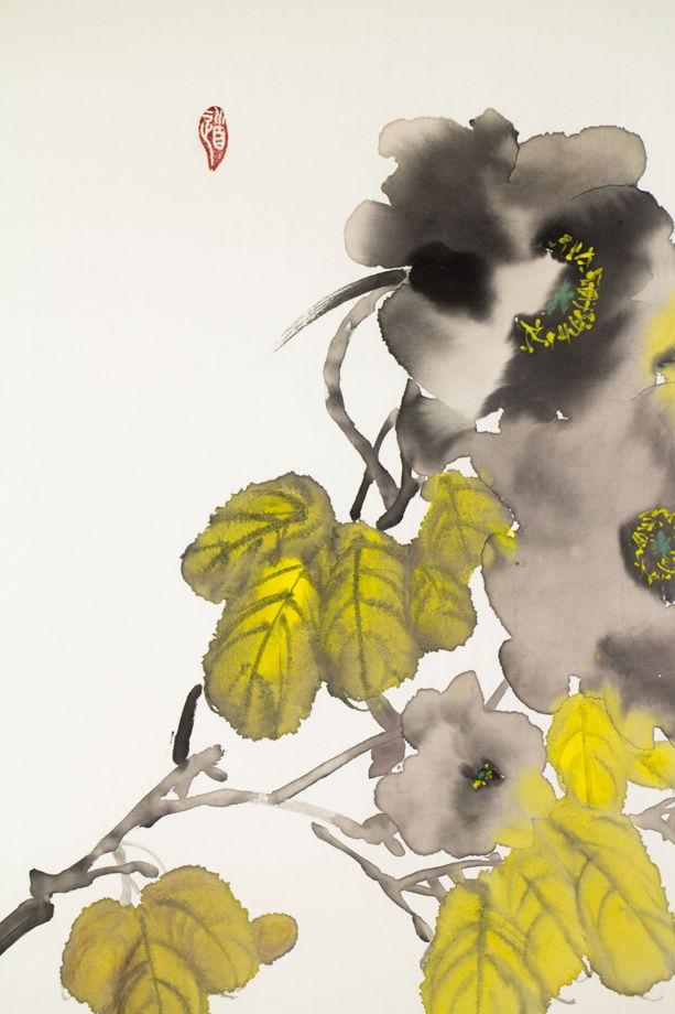 """""""Лекарство от серый будней"""", картина в традиционном китайском стиле се-и (55* 55 см)"""
