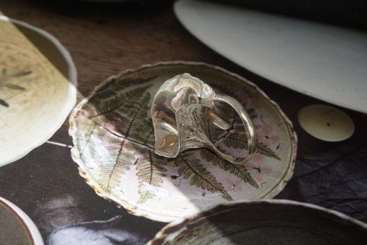 """Серебряное кольцо с гладко отполированным бутоном """"Вьюнок"""""""