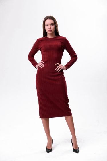 Бордовое платье-лапша Bueno, арт.0060-42