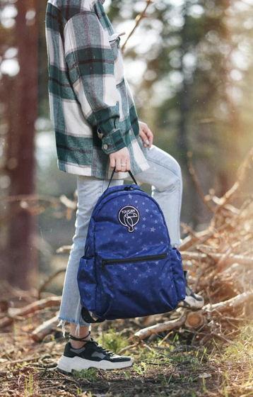 Рюкзак TOUCAN синий звёзды S