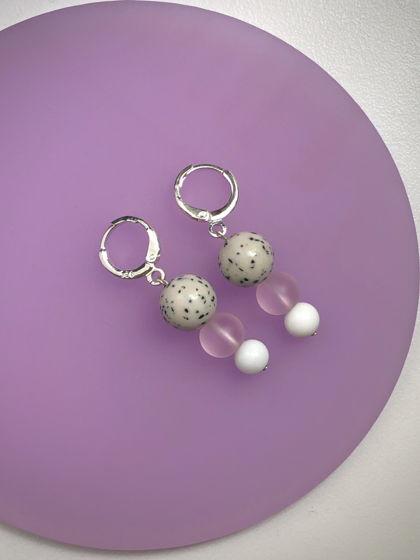 Миниатюрные серьги Pink Mini Dango