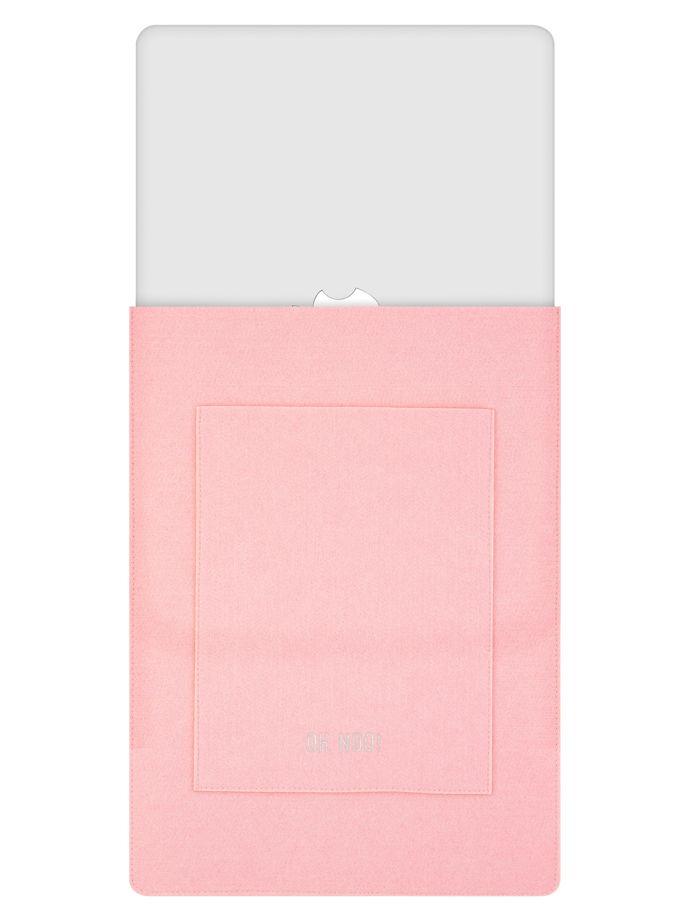 Чехол из фетра для MacBook и ноутбуков, розовый, вертикальный