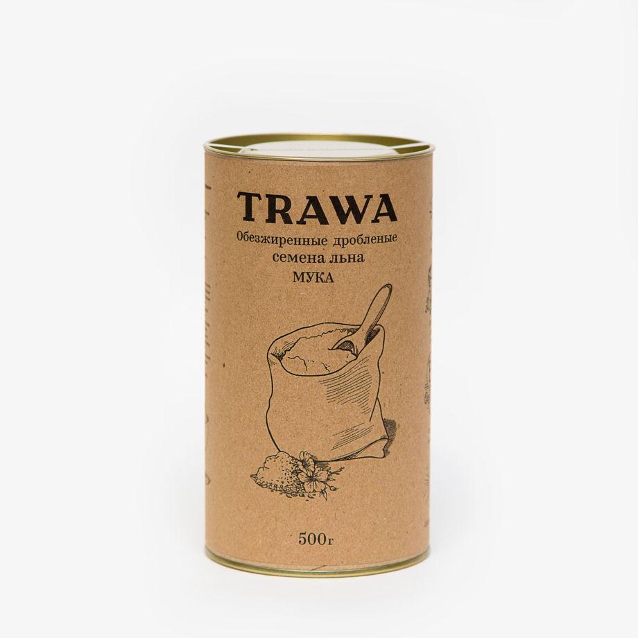 Обезжиренные дробленые семена льна (МУКА), 500 гр