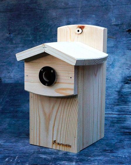 Синичник Московка - домик для птиц с защитой от белок и дятлов
