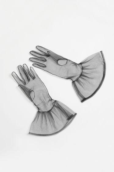 Перчатки из легкой сетки с воланом