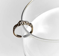 Кольцо CORONA (серебро, палладий)