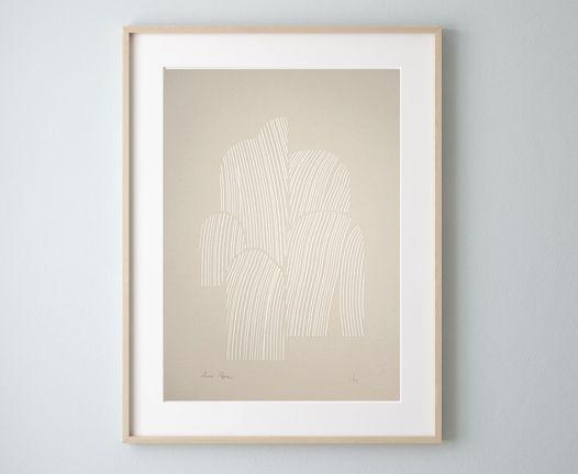 «Абстрактная фигура» / Шелкография, тираж 25 экз