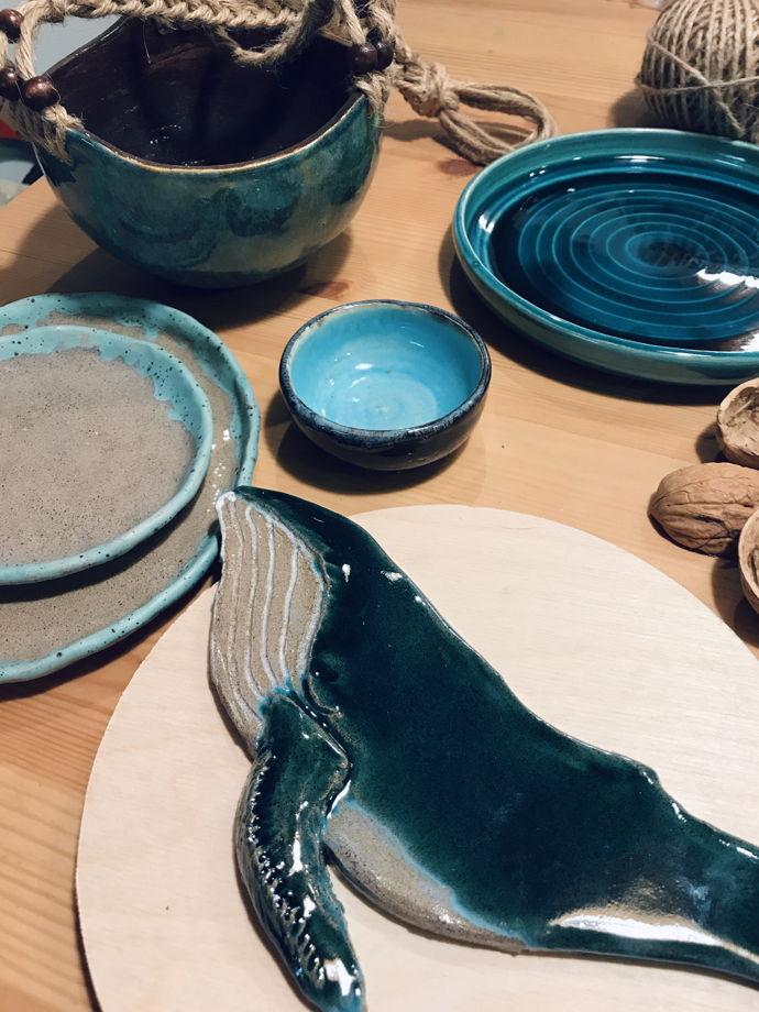Керамический Синий кит