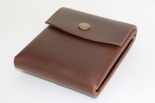 Мини кошелек из кожи horween