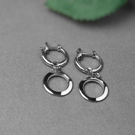 Серебряные серьги Orbis