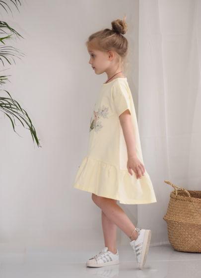Платье с авторским принтом «Овечки»