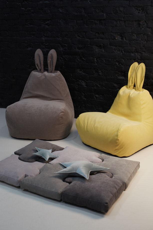Мягкий матрас-пазлы из велюра для детской комнаты