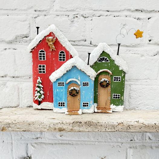 Сказочные домики. Новогоднее панно
