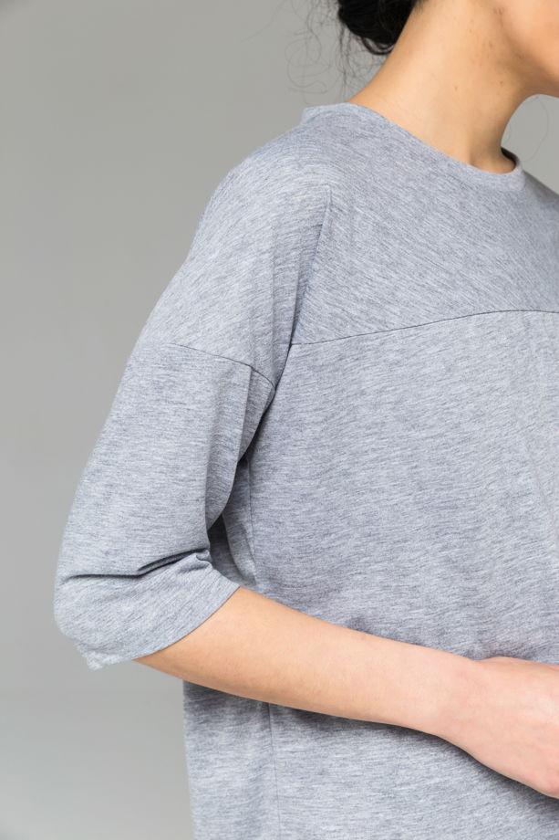 Базовая хлопковая футболка c рукавом 3/4.