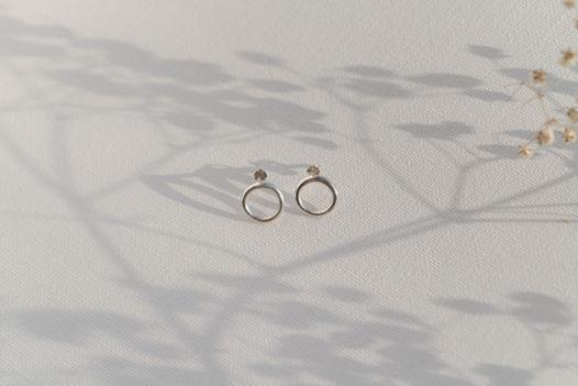 Серебряные серьги Ring true