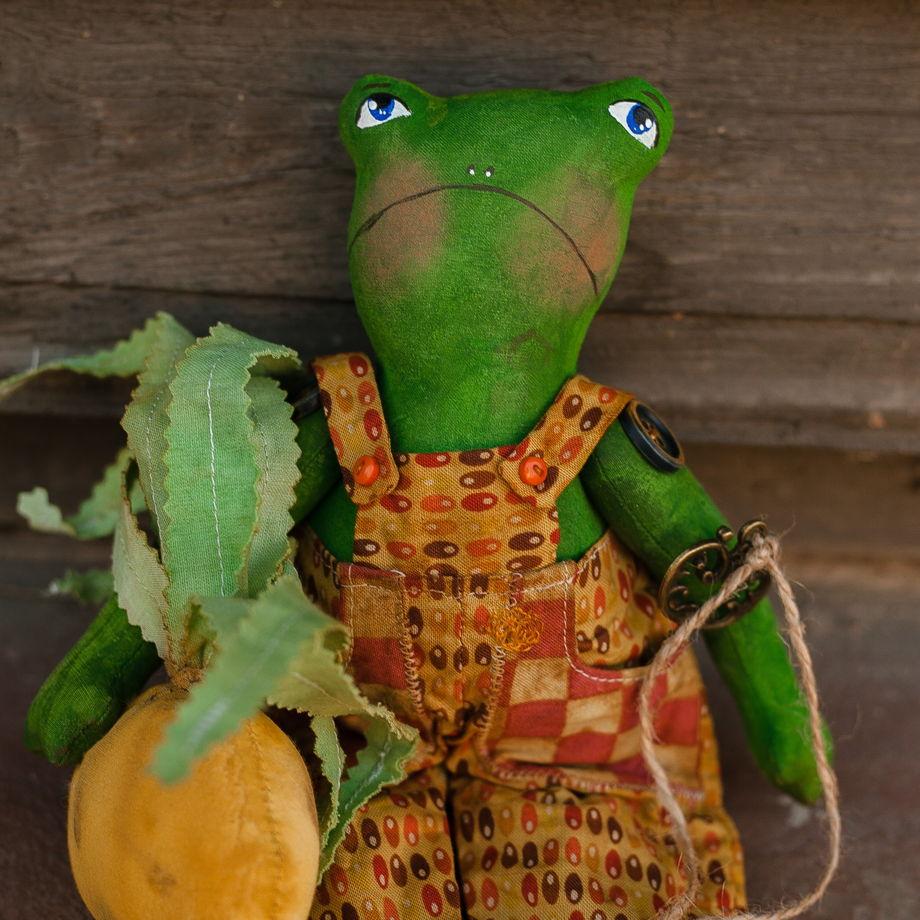 Харизматичные лягушки садовники-романтики ручной работы