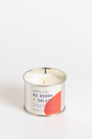 Свеча соевая Smells Like. #3 Myrrha + Salvia, 180г