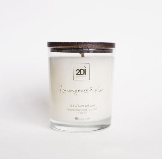 Ароматическая свеча 190 мл,Lemongrass Kiwi, Лемонграсс и киви