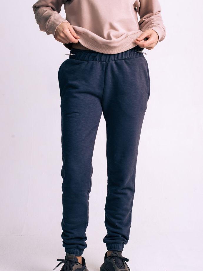 Трикотажный брюки в темно-сером цвете