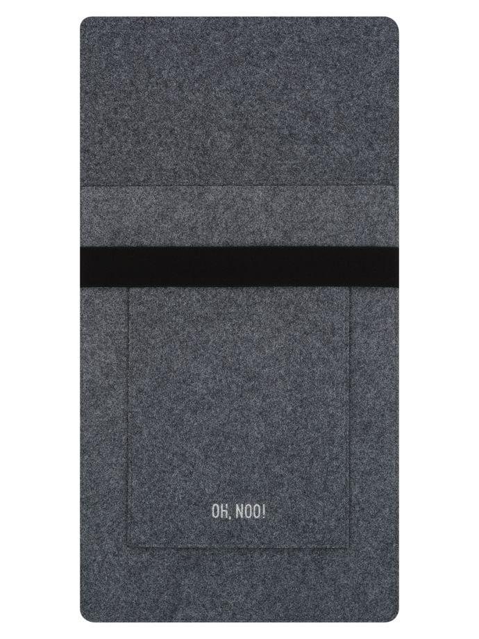 Чехол из фетра для MacBook и ноутбуков, темно-серый, вертикальный с крышкой