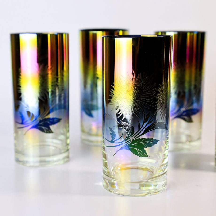 Стаканы из стекла лиловая дымка 1990х годов