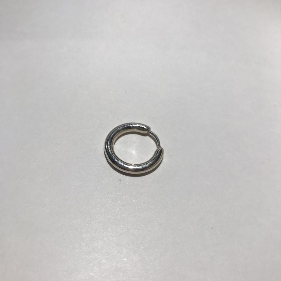 Моносерьга кольцо Fluid