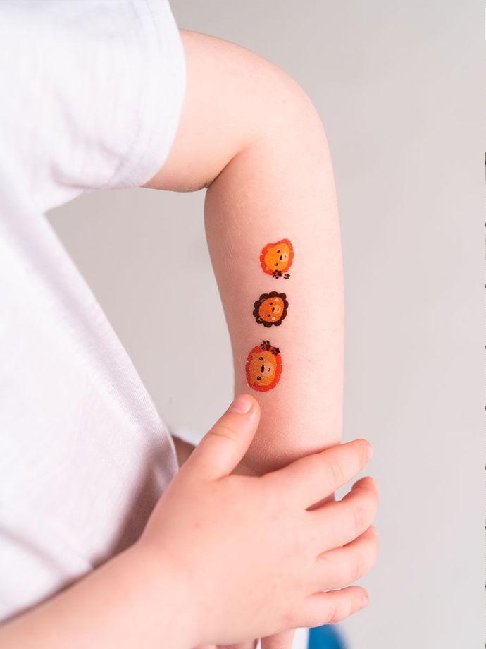 """Временные переводные татуировки MimiToo """"Мордочки"""" для детей и взрослых"""