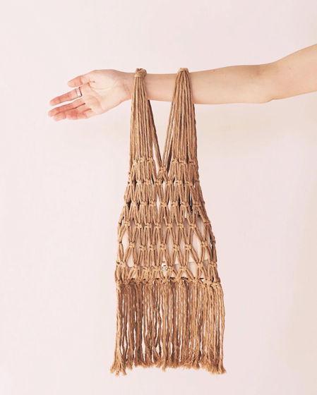 Хлопковая сумка авоська бежевая