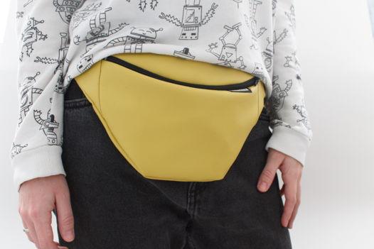 Поясная сумка желтая/бананка/сумка на пояс.