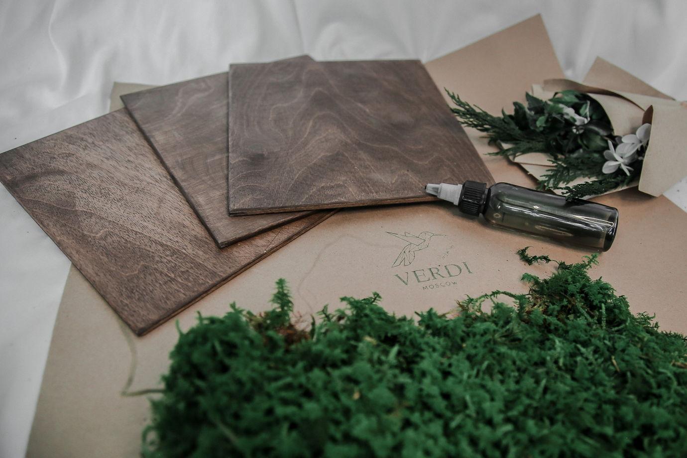"""Подарочный набор. Картина """"сделай сам"""" с использованием стаб. мха и растений"""