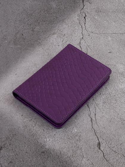 """Обложка для паспорта """"Евро"""" с вкладышем для автодокументов Фиолетовый"""