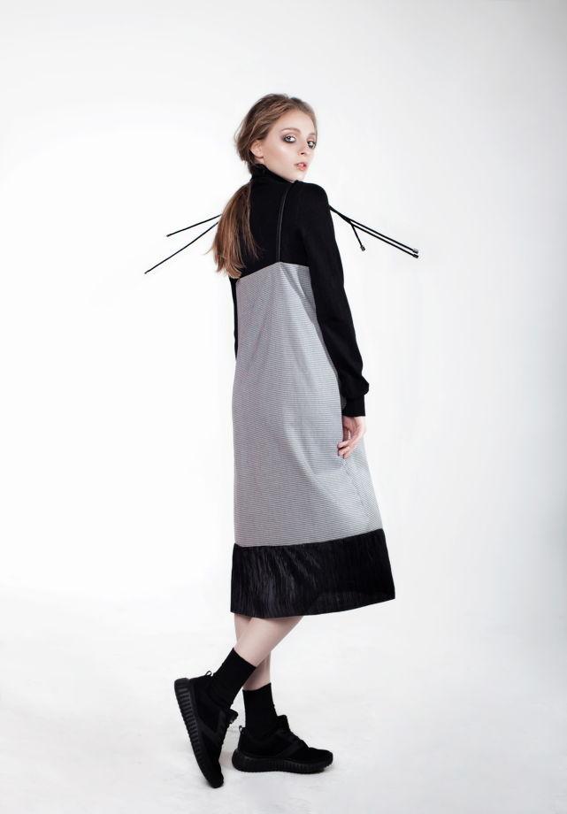 Платье на бретелях в двух цветах