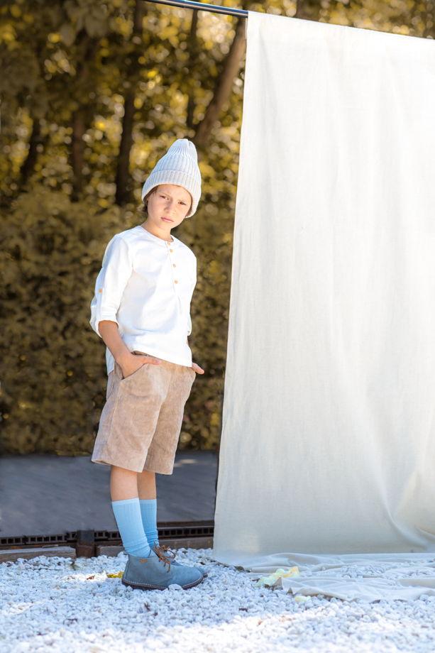 Шорты вельветовые для мальчика/девочки (цвет бежевый)