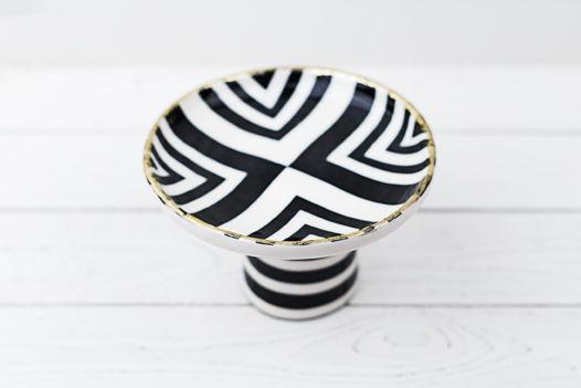 Керамическая чаша Полоски