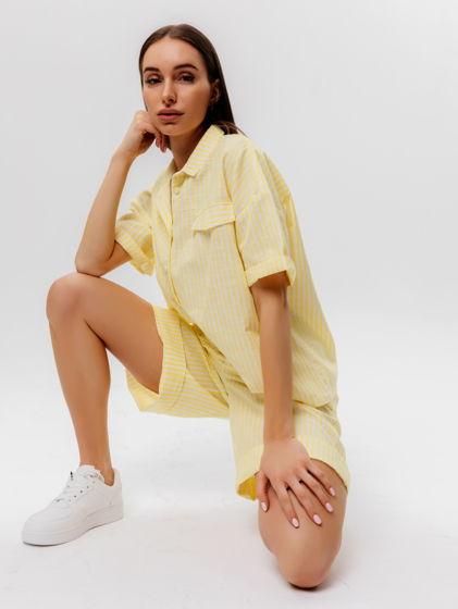 Костюм льняной шорты и рубашка из лимитированной коллекции SS/2021
