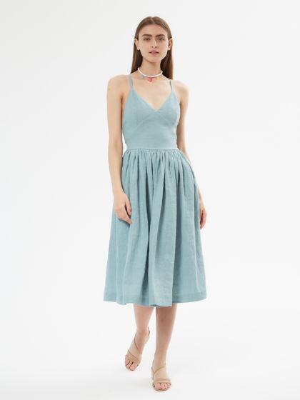 Платье /сарафан из 100% льна