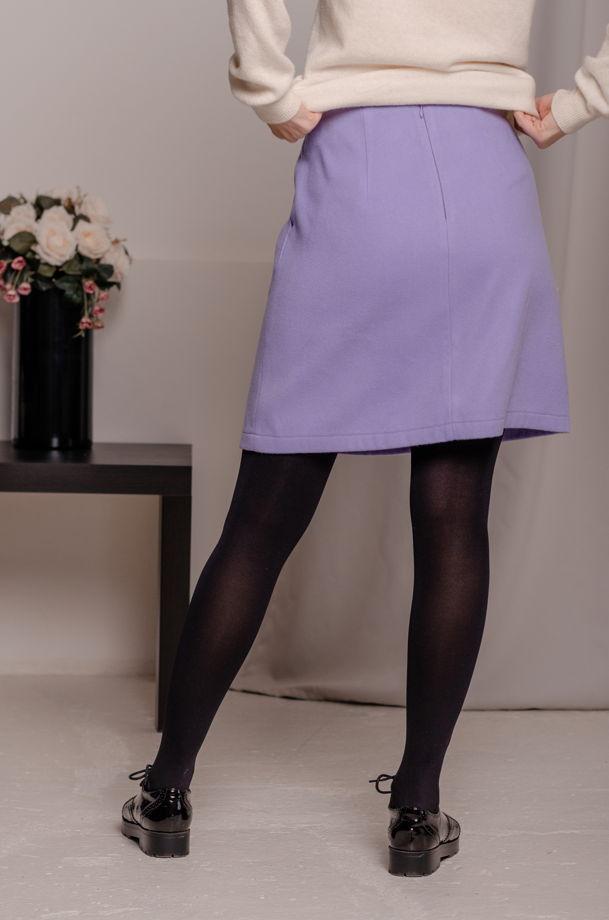 Лавандовая юбка-мини А-силуэта