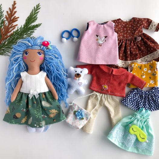 """Текстильная кукла с одеждой """"Мальвина"""""""