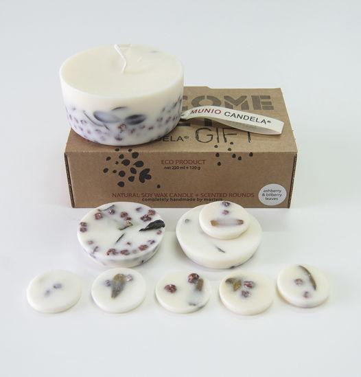 АРОМАнабор: свеча + лепестки соевый воск, для ароматерапии: натуральные эфирные масла, ручная работа