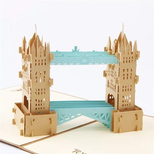 Мост Tower Bridge 3D открытка ручной работы