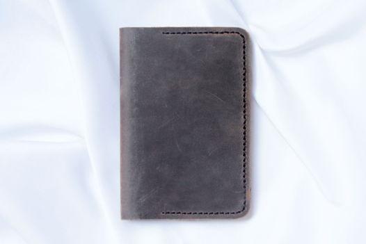 Коричневая обложка для паспорта или документов из мягкой натуральной кожи ручной работы Wild Village