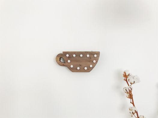 ЧАШКА — Авторский светильник, ночник из дерева ручной работы